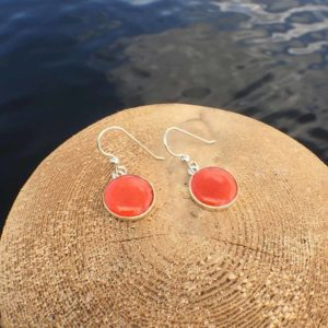 Silver Lobster Shell Earrings
