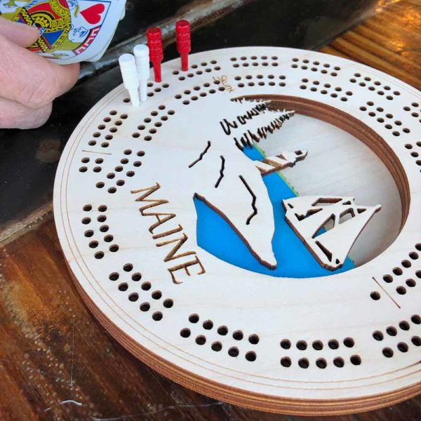 Lighthouse Laser Cut Cribbage Boards