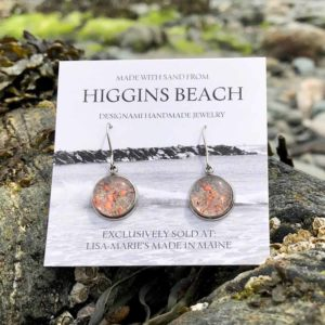 Higgins Beach Sand with Crushed Lobster Shell Earrings