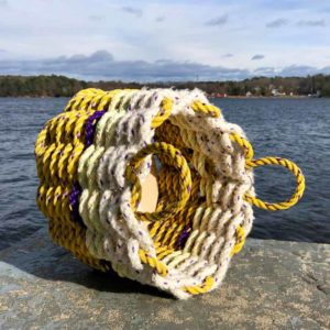 Lemon Lavender Lobster Rope Basket