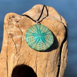 Verdigris Sand Dollar Necklace