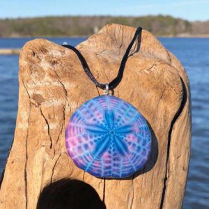 Violet Indigo Sand Dollar Necklace