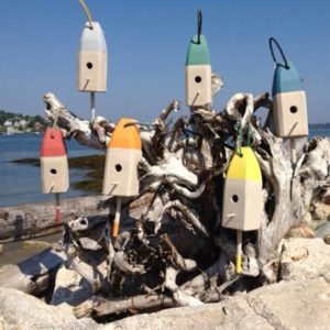 Lobster Buoy Birdhouse