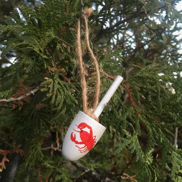 Wooden Lobster Buoy Ornament