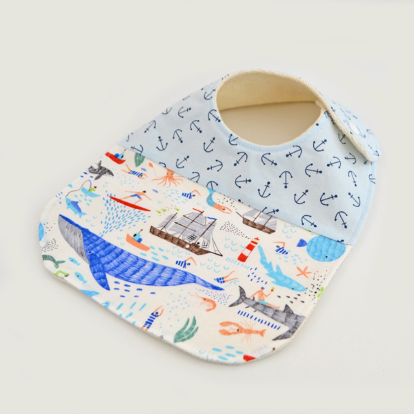 Two Little Beans Bibs - Aruba Anchors
