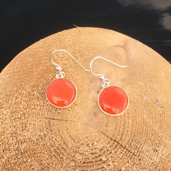 Solid Lobster Shell Silver Earrings