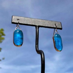 Aqua Glass Earrings