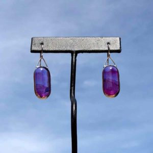 Heliotrope Glass Earrings