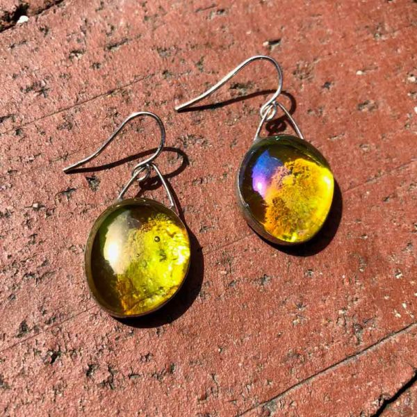 Yellow Glass Earrings
