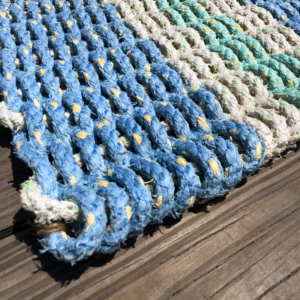 Light Blue Lobster Rope Doormat
