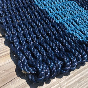 Navy & Slate Lobster Rope Doormat