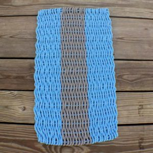 Periwinkle Lobster Rope Doormat