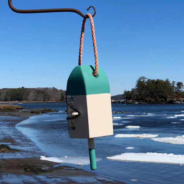 Green Lobster Buoy Suet Feeder
