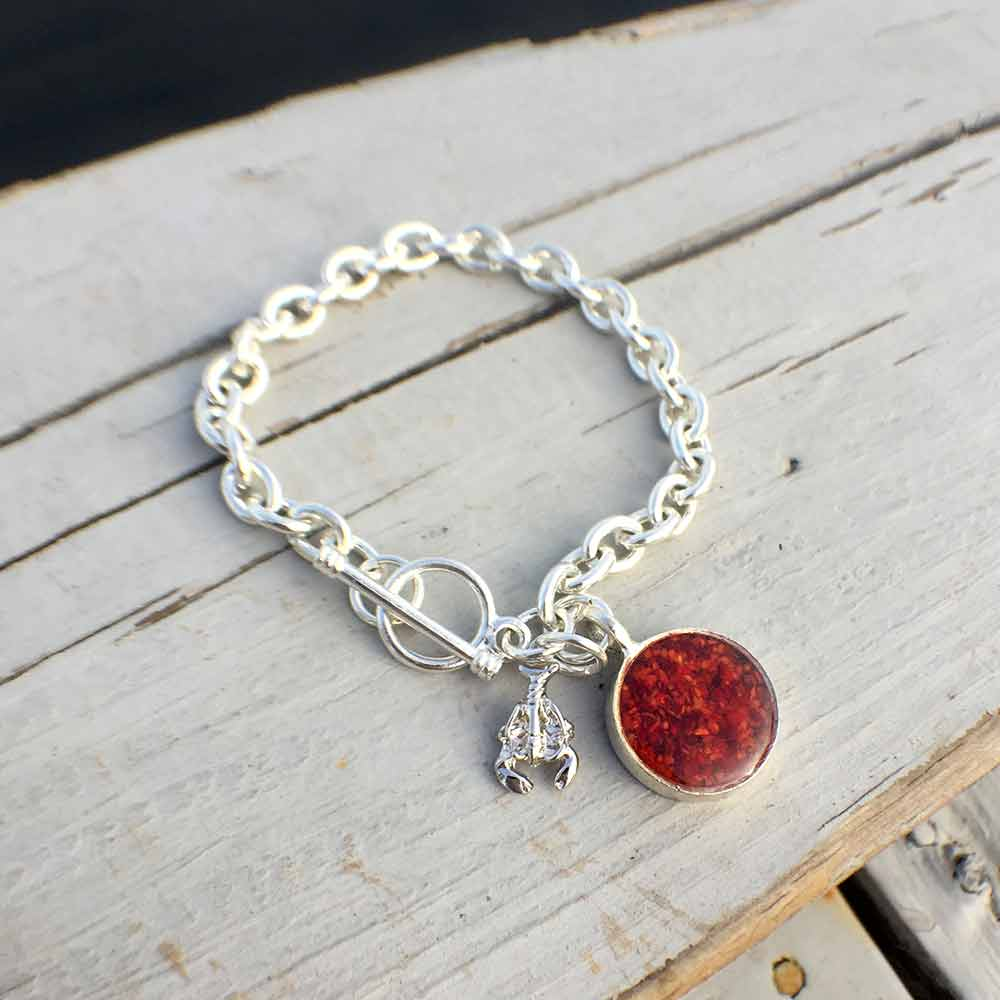 6f02d8c7eceda3 Crushed Lobster Shell Charm Bracelet | Lisa-Marie's Made in Maine