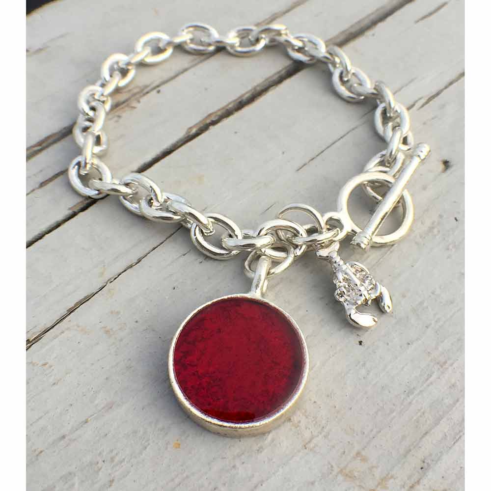 98ad4e6cc04895 Lobster Shell Charm Bracelet | Lisa-Marie's Made in Maine