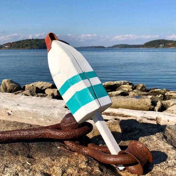 White & Teal Buoy