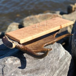 Whole Antler Cribbage Board