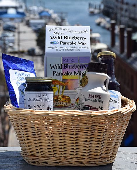 Maine Made Gift Basket, Blueberry Maine Made Gift Basket