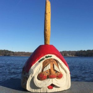 Extra Large Hand Carved Santa Buoy