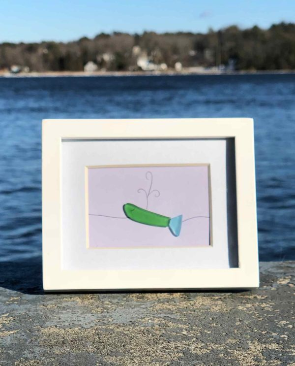 Whale Sea Glass Frames