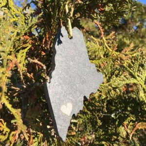 Slate Maine State Ornament