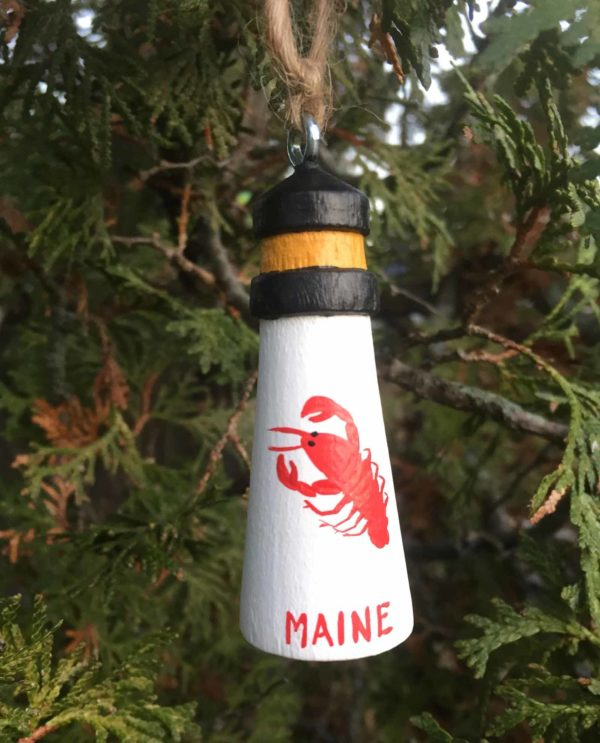 Lobster Lighthouse Ornament