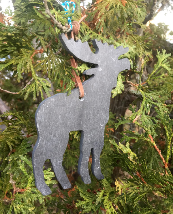 Slate Moose State Ornament