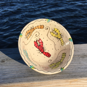 Rainbow Lobster Pottery - Bowl