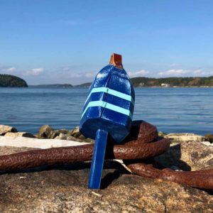 Small Navy & Light Blue Buoy