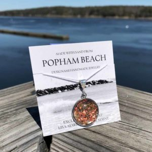 Large Popham Beach Sand with Crushed Mussel Shell Pendant