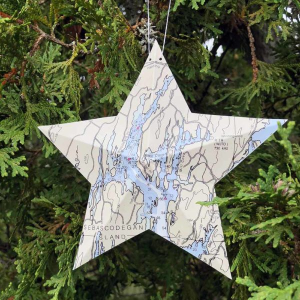 West Bath Chart Star Ornament