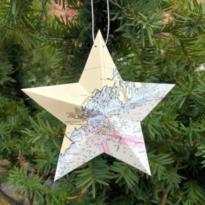 Casco Bay Chart Star Ornament