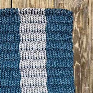 Slate Blue & Grey Lobster Rope Doormat