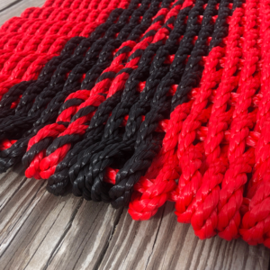 Black & Red Lobster Rope Doormat