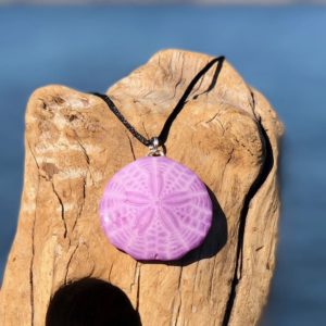 pink sand dollar necklace
