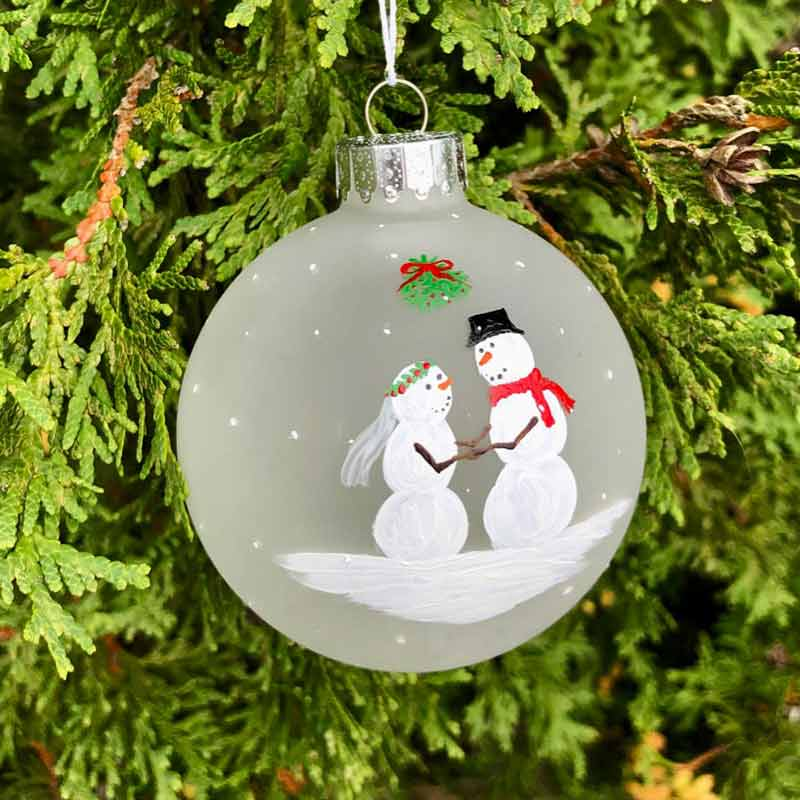 First Christmas Ornaments - Bride / Groom - First Christmas Ornaments Lisa Marie's Made In Maine