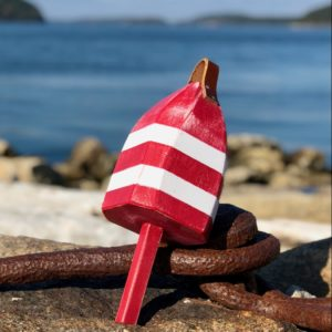 Small Red & White Buoy