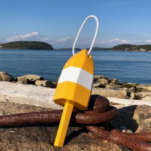 Small Yellow & White Buoy