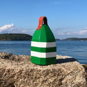 Small Green & White Buoy Centerpiece