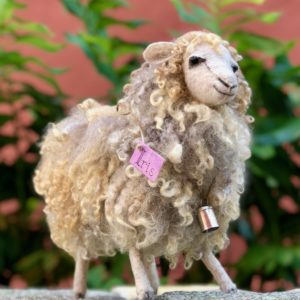 Sheep made from real sheep fleece