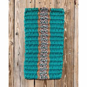 Green Lobster Rope Doormat