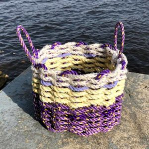 Lavender Lemon Lobster Rope Basket