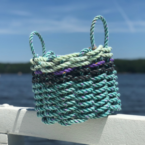 Teal Green Lobster Rope Basket