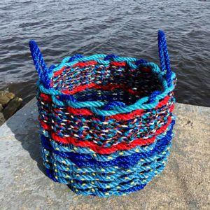 Blue & Red Lobster Rope Basket