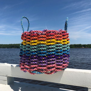Rainbow Lobster Rope Basket