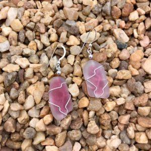 Light Pink Sea Glass Earrings