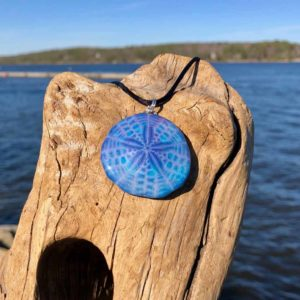 Electric Violet Sand Dollar Necklace