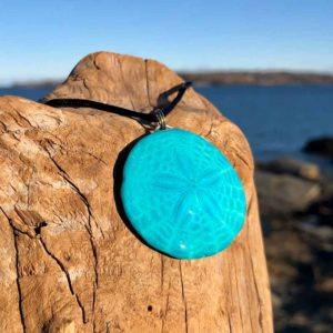 Teal Sand Dollar Necklace