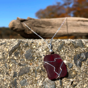 Red Sea Glass Necklace