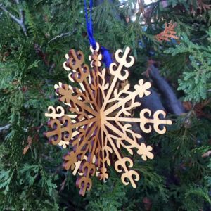 Spiral 3D Snowflake Ornament
